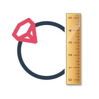 راهنمای تعیین سایز انگشتر