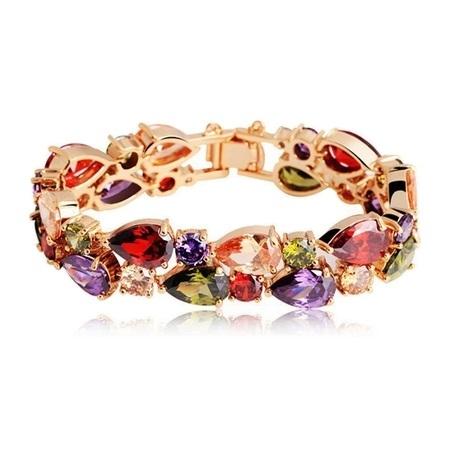 دستبند سنگهای زیرکونبای رنگی