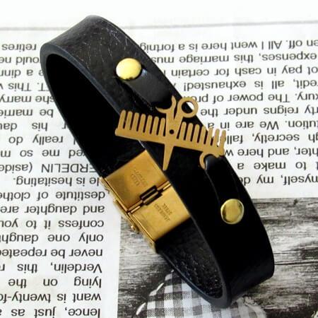 دستبند طرح شانه و قیچی