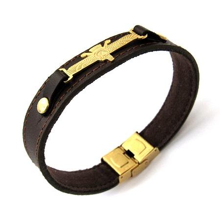 دستبند چرمی با طرح فروهر
