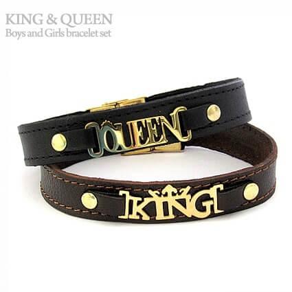 دستبند چرم King و Queen