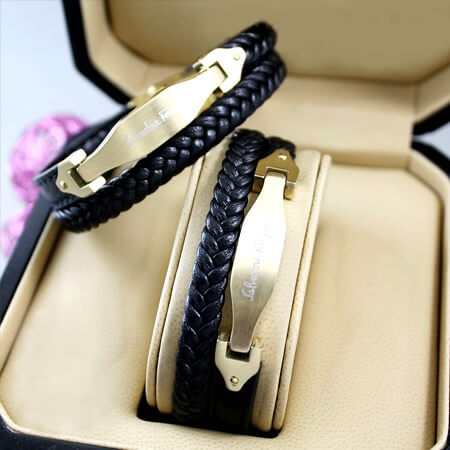 دستبند چرم دخترانه