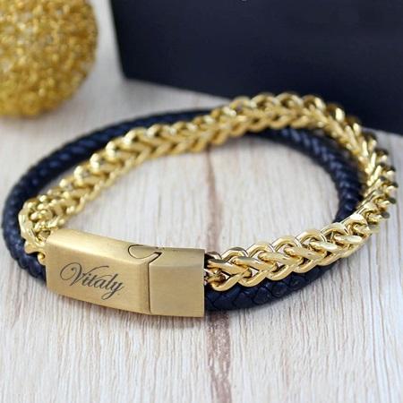 خرید دستبند چرم مردانه