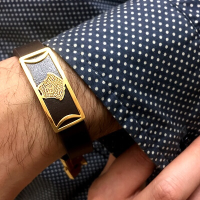 دستبند مردانه چرمی