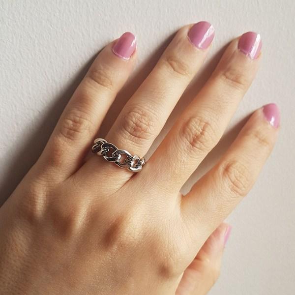 خرید انگشتر زنجیری زنانه