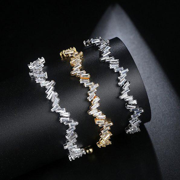 دستبند دخترانه نگینهای زیرکونیا