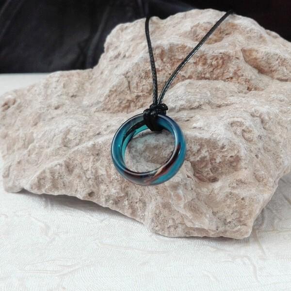 گردنبند حلقه ای مردانه آبی