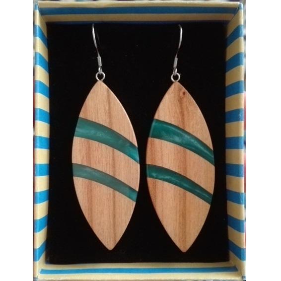 گوشواره چوبی برگی