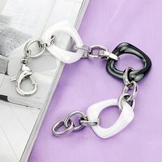 دستبند استیل با مهره سرامیکی
