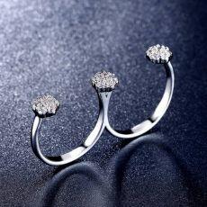 انگشتر دخترانه دو انگشتی