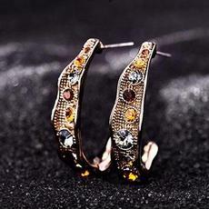 گوشواره کافئین با کریستالهای اتریشی
