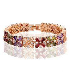 دستبند رنگی طرح گل