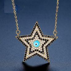 گردنبند ستاره نگین دار