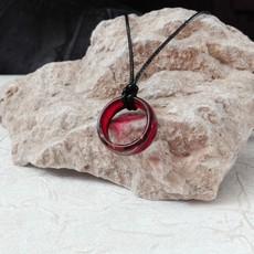گردنبند حلقه رنگ قرمز