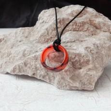 گردنبند حلقه ای نارنجی