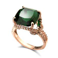 انگشتر سبز و قرمز زنانه