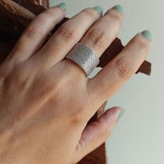 انگشتر نقره زنانه با نگین زیرکونیا