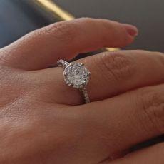 انگشتر زنانه نقره با نگین