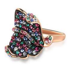 انگشتر زنانه نگینهای رنگی اتریشی