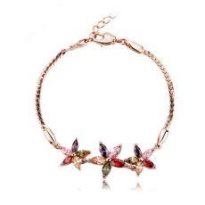 دستبند رزگلد طرح گل