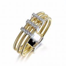 انگشتر نقره مشابه طلا