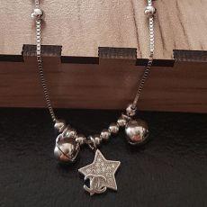 پابند نقره زنانه طرح ستاره نگین دار