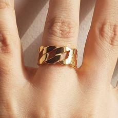 انگشتر استیل طلایی زنانه