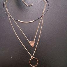 گردنبند چوکر دایره مثلث