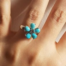 انگشتر فیروزه نیشابور زنانه