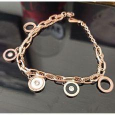 دستبند دو زنجیره طرح بولگاری