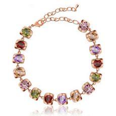 دستبند با سنگ رنگی